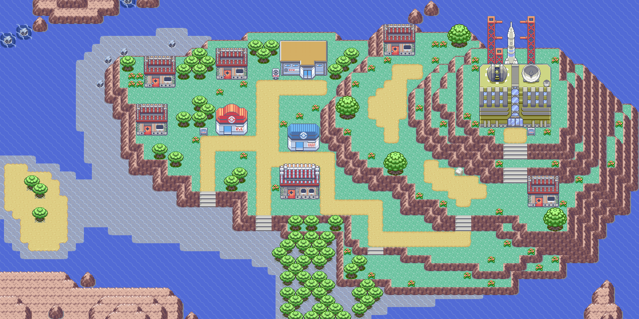 Pokemon Emerald World Map.Mossdeep City Nintendo Fandom Powered By Wikia
