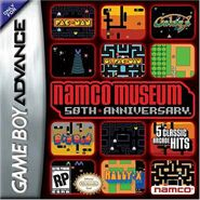 Namco Museum 50th Anniversary Game Boy Advance Boxart