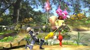 Winged Pikmin in Smash Bros. with 3 Pikmin