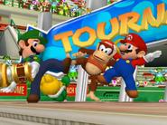 Mario Power Tennis Koopa, Luigi, Diddy, mario