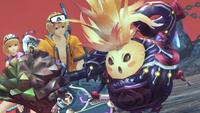 Riki declares Shulk to be the real heropon