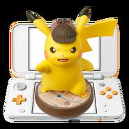 Amiibo - Detective Pikachu - Nintendo 2DS XL Orange