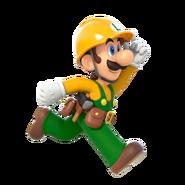 Super Mario Maker 2 - Luigi running artwork