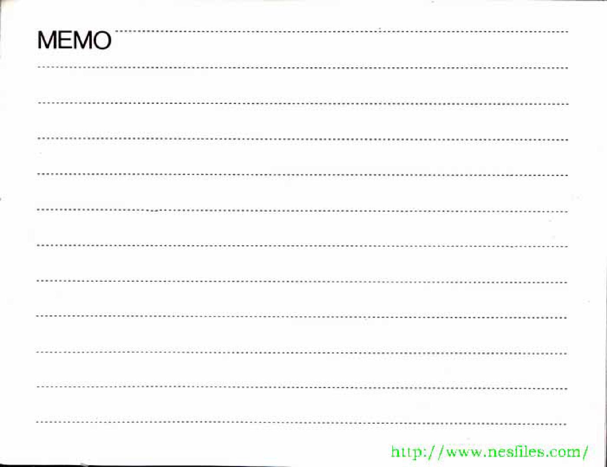 manual memo page