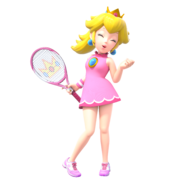 Mario Tennis Aces - Character Artwork - Peach 01