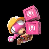 Super Mario Maker 2 - Toadette running artwork
