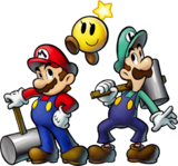 Mario Luigi Starlow Artwork - Mario and Luigi BiS