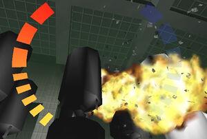 GoldenEye exploding chemtanks