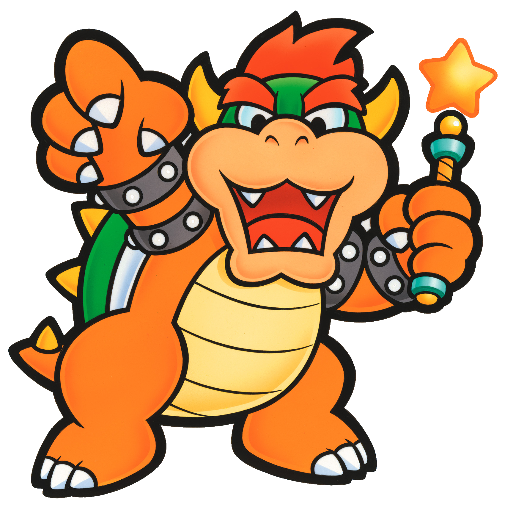 how to draw paper bowser