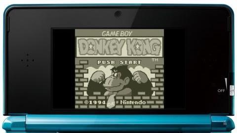ドンキーコング プレイ映像 GB 3DS