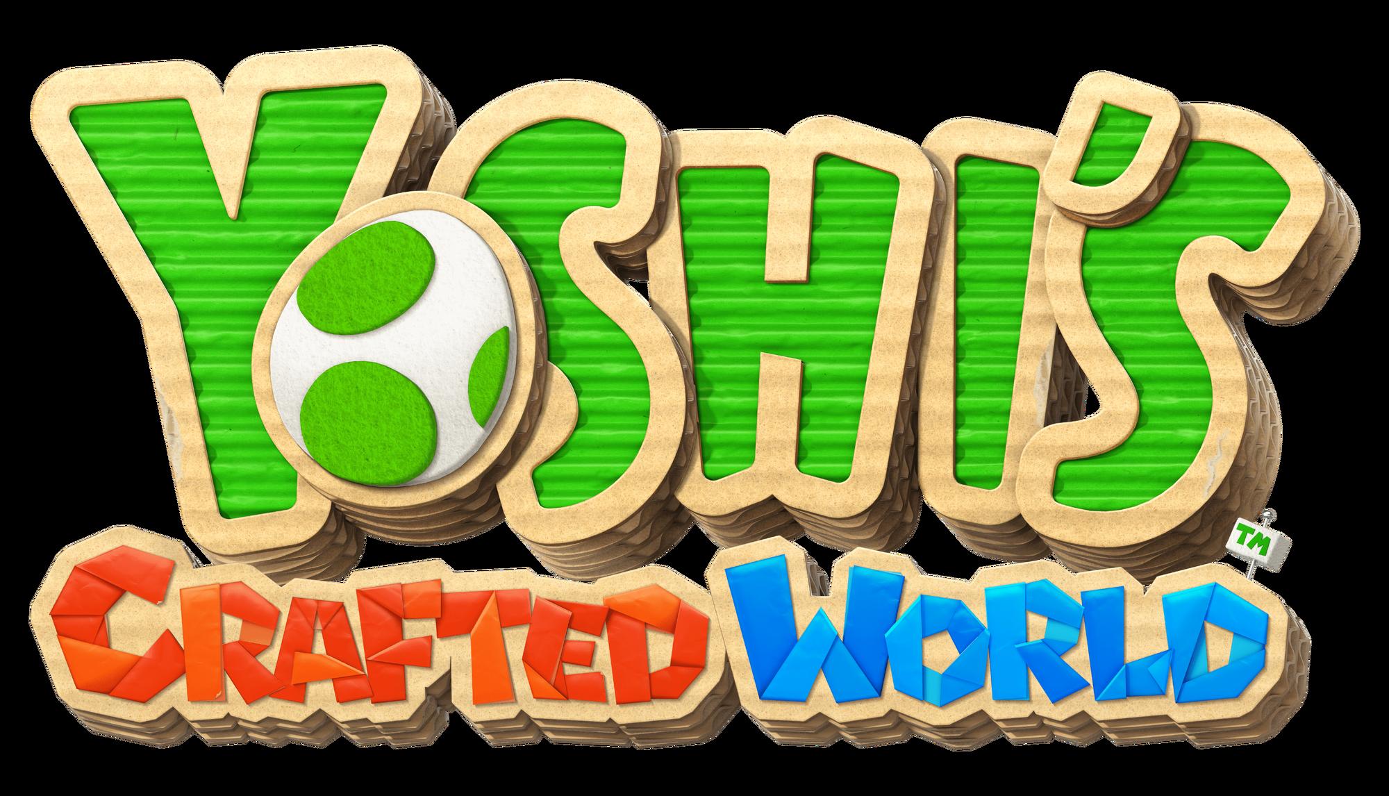 Resultado de imagem para yoshi's crafted world logo png