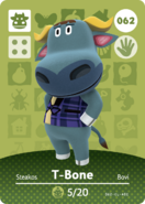 Amiibo - Card - Animal Crossing - T-Bone