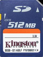 Secure Digital Kingston (512MB)