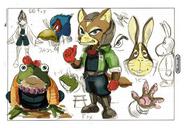 Arte conceptual - Star Fox