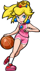 Peach Artwork - Mario Hoops 3-on-3