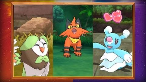 ¡Salen a la luz las evoluciones de los Pokémon iniciales de Pokémon Sol y Pokémon Luna!