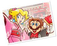 Peach (Kimono) Mario (Hakama) Tokyo Tour artwork - Mario Kart Tour