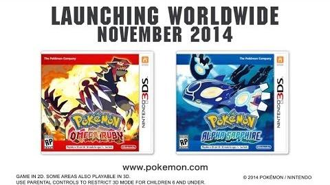 Pokémon Omega Ruby and Pokémon Alpha Sapphire -- November 2014!