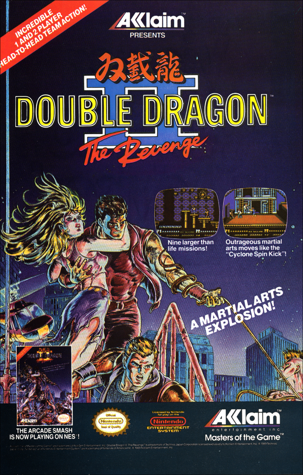 double dragon 2 nes