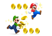 New Super Mario Bros 2 artwork - Mario & Luigi 1