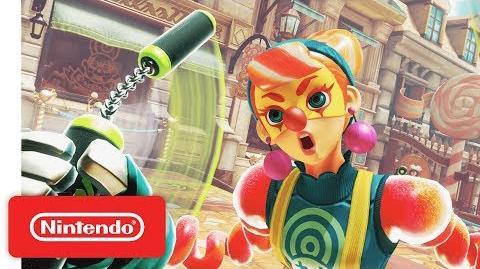 Moulderkurt.5/Nintendo presenta a Lola Pop, la nueva luchadora de ARMS