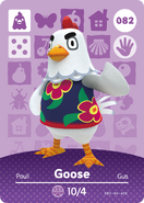 Amiibo - Card - Animal Crossing - Goose