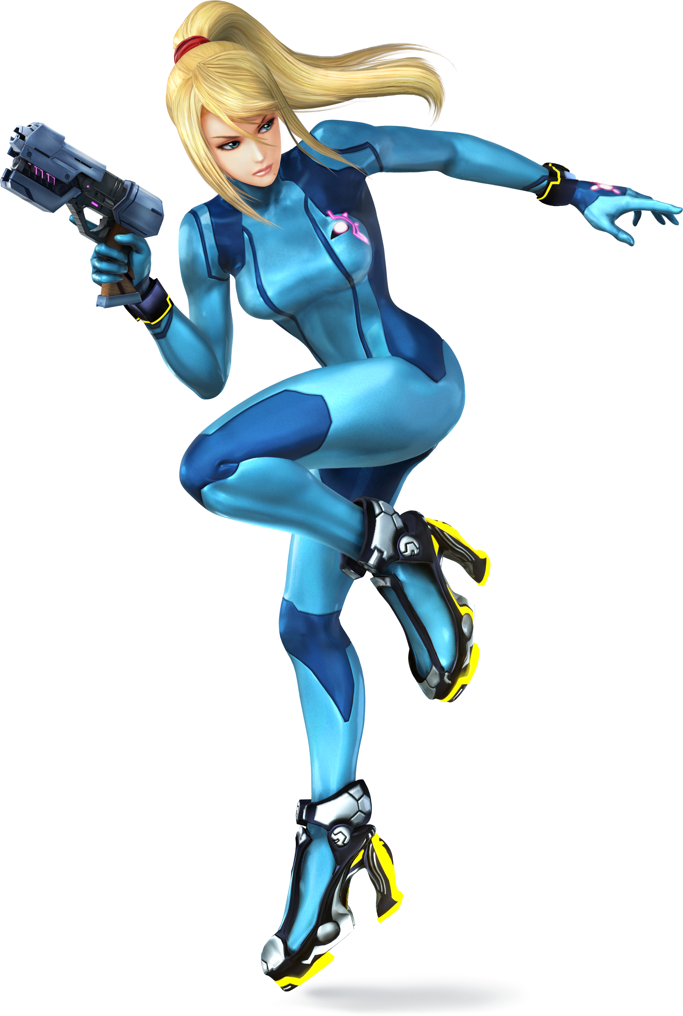 Zero Suit Samus From Super Smash Bros For Nintendo 3DS And Wii U