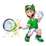 Mario Tennis Aces - Character artwork - Luigi 01