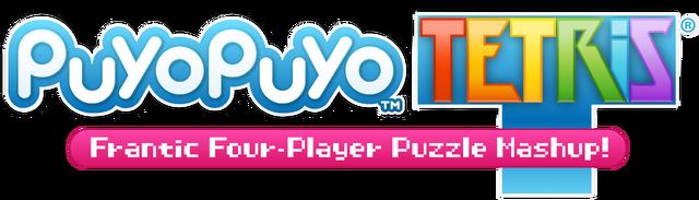 Resultado de imagem para puyo puyo tetris logo png