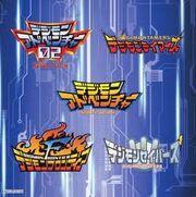 Digimon Season 2-6 logos