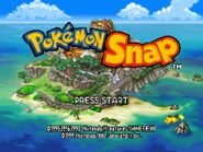 Pokemon Snap title screen