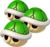 Triple Green Shells (Mario Kart 8)