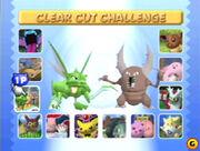 Pokémon Staidum 2 Menu de seleccion de minijuegos