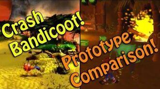 Crash Bandicoot - Early prototype VS final gameplay