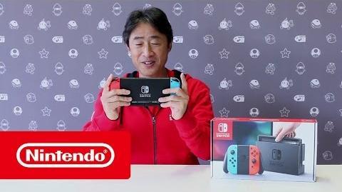 Nintendo Switch - Apertura de la caja con Satoru Shibata