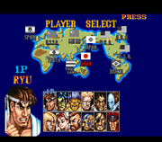 Street Fighter II Turbo - Hyper Fighting (roster)