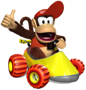 Diddy Artwork - Diddy Kong Racing DS