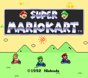 Super Mario Kart (Title Screen)