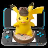 Amiibo - Detective Pikachu - Nintendo 2DS XL Blue