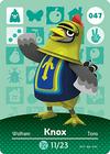 Animal Crossing Amiibo Card 047