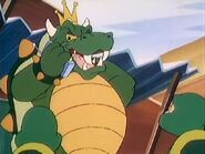 Bowser talking on the phone