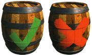 Check and X Barrel