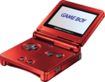 Game Boy Advance SP Red Model