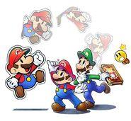 Mario Luigi Paper Mario and Starlow