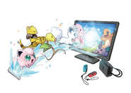 Pokémon Let's Go, Pikachu! and Let's Go, Eevee! - GO Park art