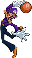 Waluigi Artwork - Mario Hoops 3-on-3