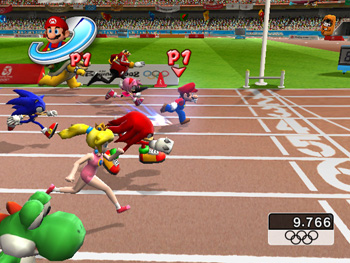 Mario and Sonic at the Olympic Games 100 m