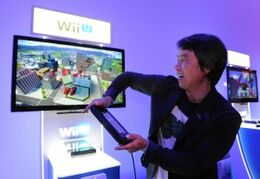 Miyamoto jugando Project Giant Robot