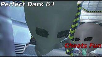 Perfect Dark 64 cheats fun Full game (ALIEN INVASION) xD