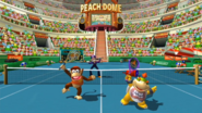 Mario Power Tennis - Peach Dome-Hartplatz 3-34 screenshot